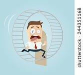 running businessman is running... | Shutterstock .eps vector #244351168