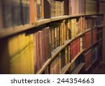 Library Or Book Store With Row...