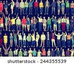 people diversity success... | Shutterstock . vector #244355539