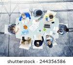 brainstorming planning... | Shutterstock . vector #244356586