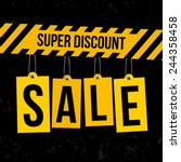 sale poster with tags | Shutterstock .eps vector #244358458