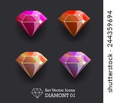 vector collection icons diamond ...