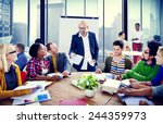 business people conference... | Shutterstock . vector #244359973