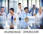 business people meeting... | Shutterstock . vector #244361140