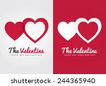 the valentine's day. fullfill... | Shutterstock .eps vector #244365940