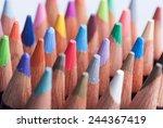 assortment of colored pencils... | Shutterstock . vector #244367419