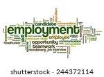 word cloud related to job... | Shutterstock .eps vector #244372114