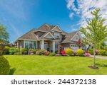 luxury house in vancouver ... | Shutterstock . vector #244372138
