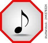 note sign icon  vector... | Shutterstock .eps vector #244378324