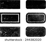 set of grunge rubber texture... | Shutterstock .eps vector #244382020