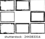 set of grunge black and white... | Shutterstock .eps vector #244383316