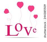 heart love  | Shutterstock .eps vector #244385509