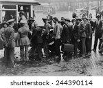world war i veterans boarding a ... | Shutterstock . vector #244390114