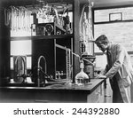 scientist conducting a... | Shutterstock . vector #244392880