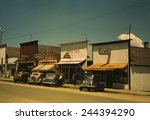five businesses on the main... | Shutterstock . vector #244394290