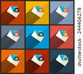 vector flat design ui email...
