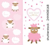 Cute Baby Sheep Vector...