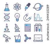 graphic set science and... | Shutterstock .eps vector #244410289