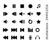 player icon set vector | Shutterstock .eps vector #244411516