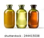 shampoo bottle on a white... | Shutterstock . vector #244415038