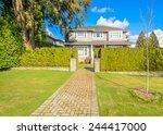luxury house in vancouver ... | Shutterstock . vector #244417000