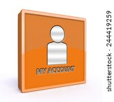 my account square icon on white ... | Shutterstock . vector #244419259