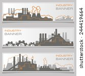 vector horizontal banner  plant ... | Shutterstock .eps vector #244419664