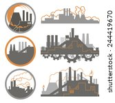 set of industrial logos and...
