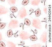 seamless pattern of beautiful... | Shutterstock .eps vector #244420414