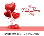 valentines day red sweet... | Shutterstock .eps vector #244423909