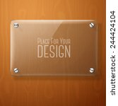 vector glass plate for your... | Shutterstock .eps vector #244424104