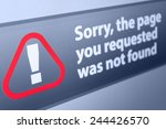 closeup of page not found sign... | Shutterstock . vector #244426570