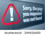 closeup of page not found sign... | Shutterstock . vector #244426600