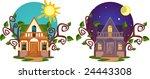 lovely small house. | Shutterstock .eps vector #24443308
