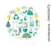 environment and ecology icon... | Shutterstock .eps vector #244433473