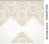 vector vintage border in... | Shutterstock .eps vector #244437304