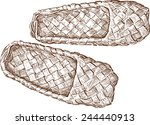 bast shoes | Shutterstock .eps vector #244440913