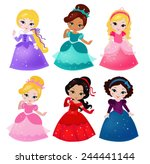 a cute collection of beautiful... | Shutterstock .eps vector #244441144