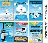 restaurant placard template set ...   Shutterstock .eps vector #244449433