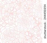beautiful floral seamless... | Shutterstock .eps vector #244450354