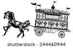 horse carriage silhouette    Shutterstock .eps vector #244460944