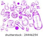baby doodles   vector | Shutterstock .eps vector #24446254