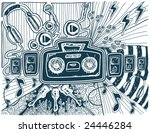 Music Doodles - Vector - stock vector