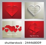 set of valentines day greeting... | Shutterstock .eps vector #244468009