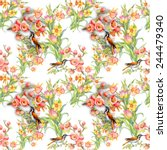 seamless pattern with wild... | Shutterstock .eps vector #244479340
