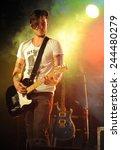 denver june 26   guitarist john ... | Shutterstock . vector #244480279
