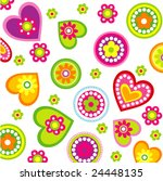 background with hearts | Shutterstock .eps vector #24448135