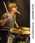 denver june 26   drummer walker ... | Shutterstock . vector #244481458