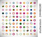 unusual icons set   isolated on ... | Shutterstock .eps vector #244486180