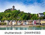 Town Of  Cochem With The...